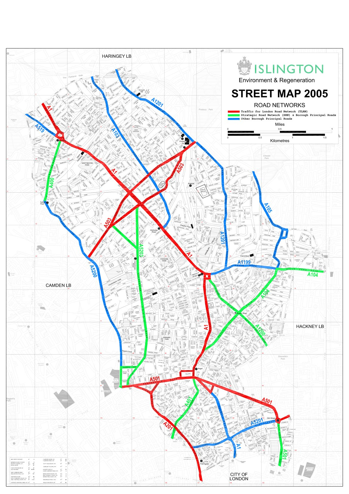 Islington's road network