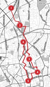 The route of the Islington #space4cycling ride.