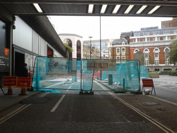 Beech St. Cyclists Dismount