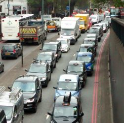 Traffic on Euston Road